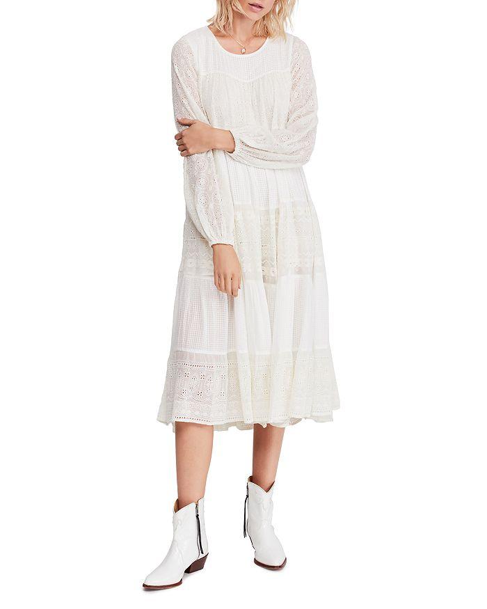 dc87bd5250930 Free People Gemma Eyelet Midi Dress   Bloomingdale's