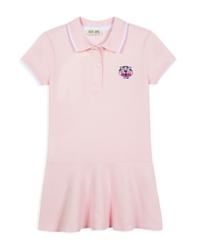 Kenzo - Girls' Embroidered-Tiger Polo Dress - Big Kid