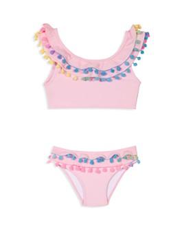 PQ Swim - Girls' Pom-Pom Two-Piece Swimsuit - Little Kid, Big Kid