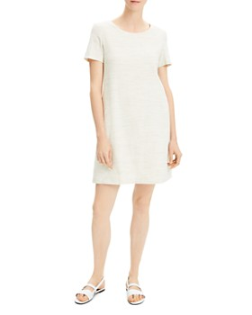 2f82f563e40 Theory - Paneled Mini Shift Dress ...