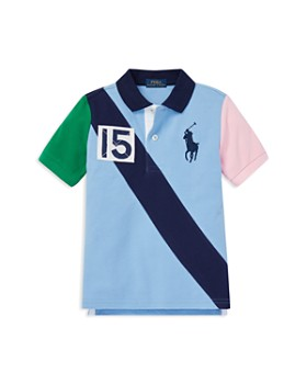 cb85bc7db726 Ralph Lauren - Boys  Color-Block Big Pony Mesh Polo - Little Kid ...