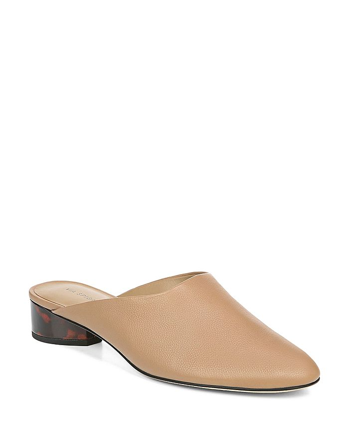 Via Spiga - Women's Chaney Leather Mules