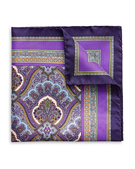 Eton - Paisley Silk Pocket Square