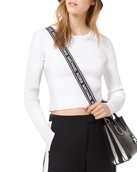 MICHAEL Michael Kors - Cropped Ribbed Sweater