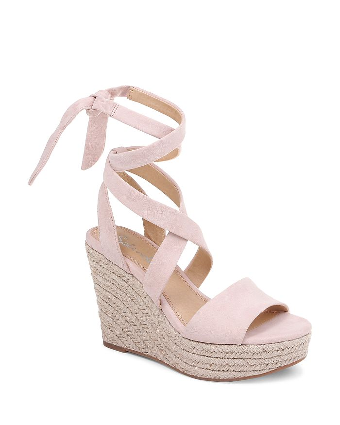 8393abbcfb Splendid Women's Tessie Ankle-Tie Wedge Sandals | Bloomingdale's