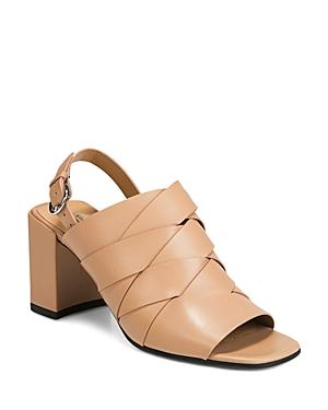 60765606054 Via Spiga Women s Oren 2 Woven Leather Slingback Sandals