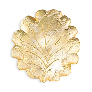 Vietri Moon Glass Leaf Platter-Home
