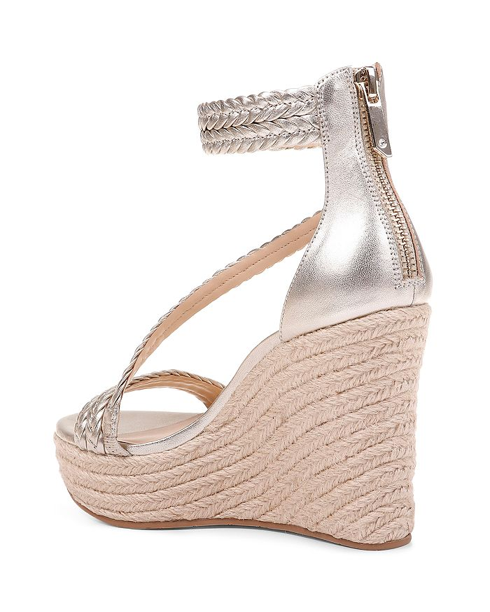 fea659bdf83 Women's Lita Metallic Leather Wedge Espadrille Sandals