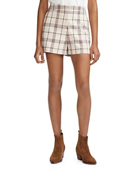Maje - Izore Plaid Shorts