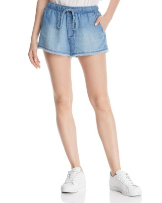 Side Button Chambray Shorts by Bella Dahl