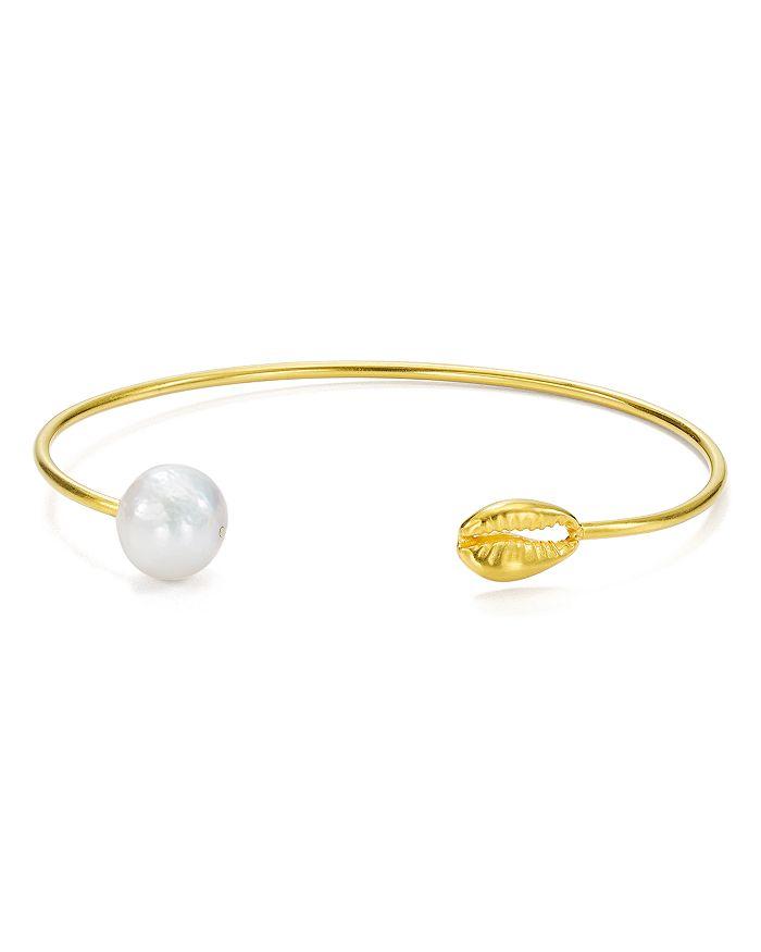 Chan Luu - Cultured Freshwater Pearl Thin Cuff Bracelet