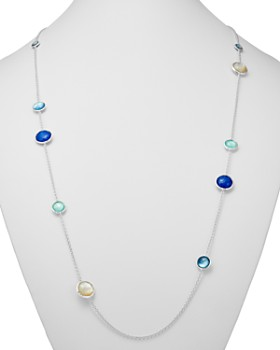 IPPOLITA - Sterling Silver Wonderland Mother-of-Pearl Doublet Station Necklace, 40""