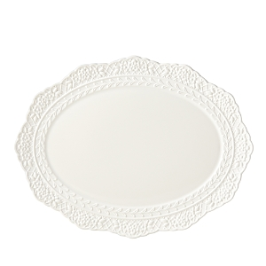 Lenox Chelsea Muse Fleur Scallop Oval Platter - 100% Exclusive-Home