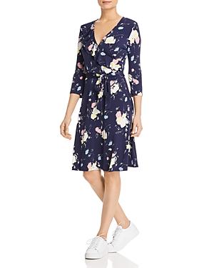 Leota Dresses FELICITY FLORAL-PRINT FAUX-WRAP DRESS