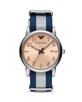 3d8cc350bce7 Emporio Armani - Luigi Blue Nylon Strap Watch, ...