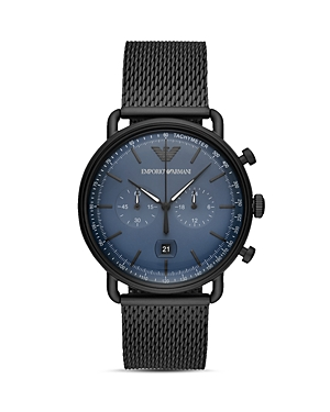 Emporio Armani Chronograph Black Stainless Steel Watch, 43mm