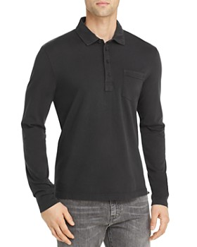 Billy Reid - Pensacolo Long-Sleeve Regular Fit Polo Shirt