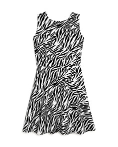 AQUA - Girls' Zebra Print Fit-and-Flare Dress, Big Kid - 100% Exclusive