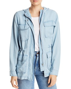 AQUA - Chambray Military Jacket - 100% Exclusive