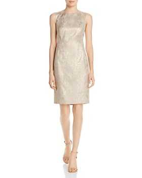 4b82a18ac6c Calvin Klein - Snake Print Brocade Sheath Dress ...