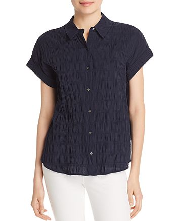 Scotch & Soda - Smocked Short Sleeve Shirt