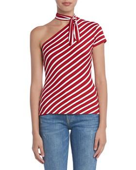 Bailey 44 - Entre Nous Venie Striped One-Shoulder Top
