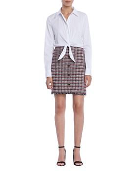 Bailey 44 Pas De Deux Mixed Media Dress