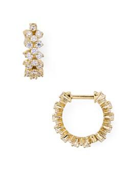 Nadri - Lattice Huggie Hoop Earrings