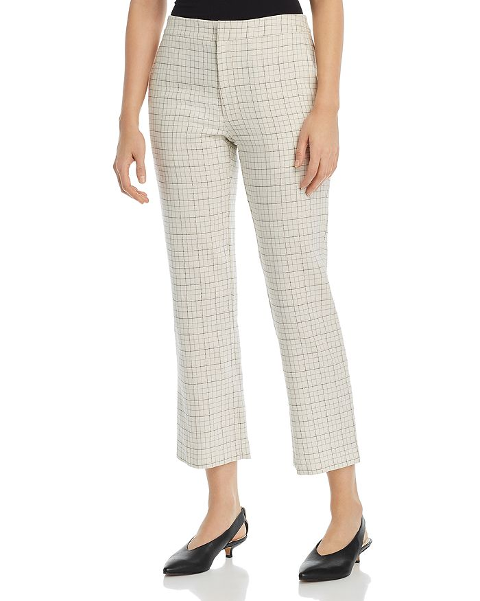 Joie - Dicra Cropped Grid-Print Pants