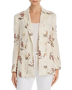 Rebecca Taylor - Ivie Floral-Embroidered Double-Breasted Blazer