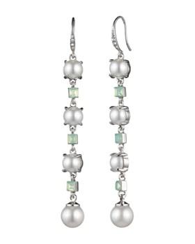 9630bc895 Carolee - Linear Simulated Pearl & Stone Drop Earrings ...