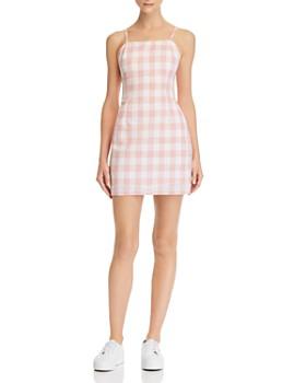7a4b25621105 AQUA - Gingham Tie-Back Dress - 100% Exclusive ...