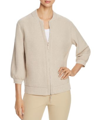 Sequined Bomber Cardigan by Lafayette 148 New York