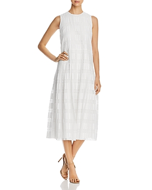 Lafayette 148 Dresses AVALYNN SLEEVELESS CHECKED SHIFT DRESS