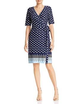 1d8249e1249 Adrianna Papell - Faux-Wrap Printed Jersey Dress - 100% Exclusive ...