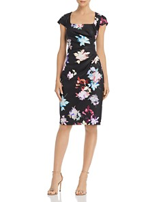 Adrianna Papell - Draped Floral Dress