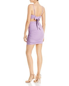 Tiger Mist - Ruched Back-Tie Dress