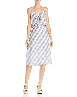 Joie Dresses ABIAH PLAID SILK DRESS