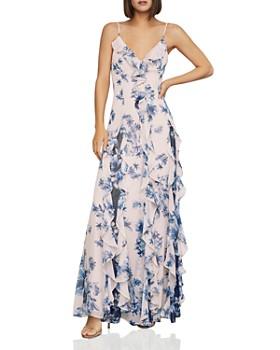 bf4bd438de2773 BCBGMAXAZRIA - Divine Bloom Ruffle Maxi Dress ...