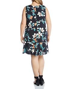 Karen Kane Plus - Sleeveless Tropical-Floral Dress