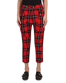 The Kooples - Cropped Glitter Check Pants