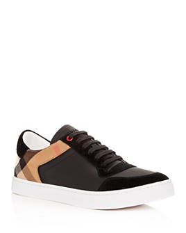 Burberry - Men's Reeth Leather Low-Top Sneakers
