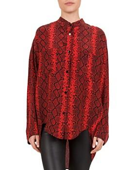 The Kooples - Red Hot Snake Print Shirt