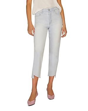 Sanctuary Jeans RAW-HEM CROPPED JEANS IN SOTO BLUE
