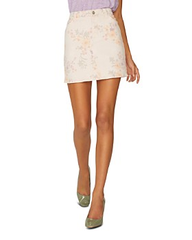 Sanctuary - Ryan Floral-Print Denim Mini Skirt