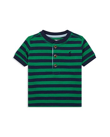 Ralph Lauren - Boys' Stripe Cotton Jersey Henley - Baby