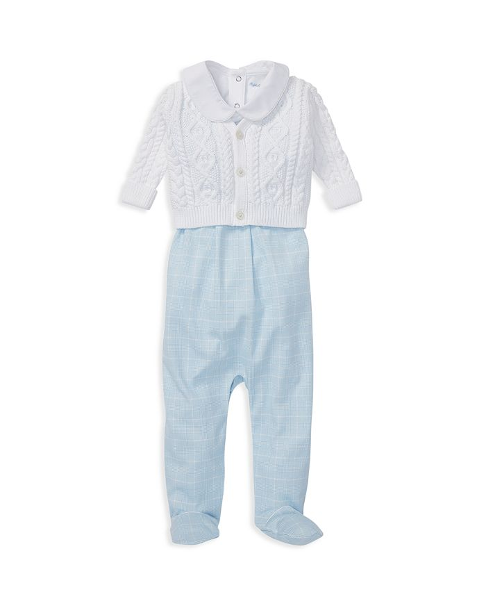Ralph Lauren - Boys' Cotton Aran-Knit Cardigan, Overalls & Bodysuit Set - Baby