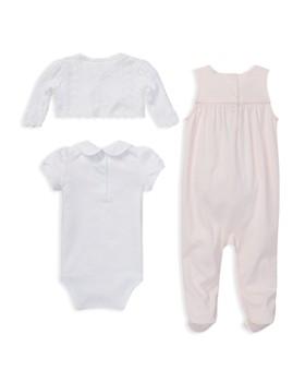 Ralph Lauren - Girls' Cotton Aran-Knit Srugh, Overalls & Bodysuit Set - Baby