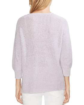 VINCE CAMUTO - V-Neck Shimmer Sweater