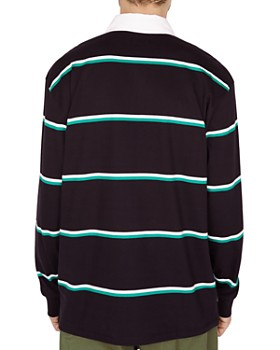 OBEY - Washer Long-Sleeve Striped Classic Fit Polo Shirt